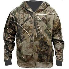 BOYS STEALTH CAMO HOODY JACKET 2 layer cotton tree camouflage fishing camping