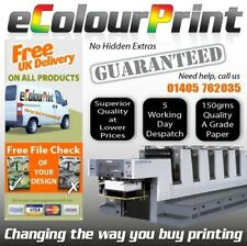 A5, A4, A6 or DL Printed Colour leaflets / flyers on 150gms Plus 25 FREE Posters