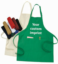 CHEFS FAVORITE! ADJUSTABLE APRON & POCKETS 120 PC  YOUR IMPRINT & COLOR CHOICE