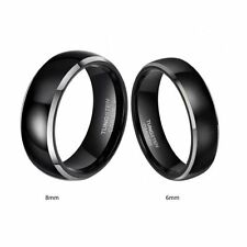 6mm Men Women Black Tungsten Carbide Ring Fashion Smoothy Hot Bridal Jewelry