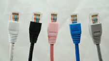 From 3ft to 50ft Cat 5/5e Ethernet Crossover Cable - GY, BL, WT, BK, & PK
