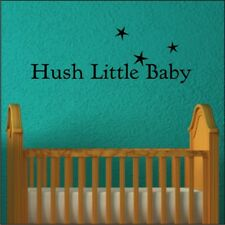 HUSH LITTLE BABY nursery bedroom personalised childs love decor wall art quote