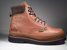 Cactus Work Boots 6718P Lt Brown Real Leather Upper New In Box Men's Size's