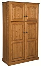 Amish Country Traditional Kitchen Pantry Storage Cupboard Cabinet Roll Shelf Oak