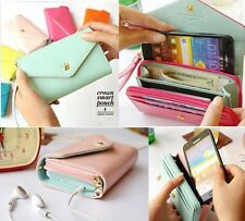 Multi propose envelope wallet case Purse for Galaxy S2,S3,iphone 4,4S #AFM