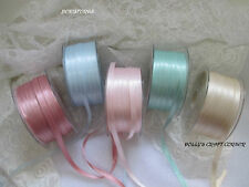 BERISFORDS LUXURY SATIN RIBBON SOFT VINTAGE COLOURS 3MM 7MM 10MM 15MM 25MM 50MM