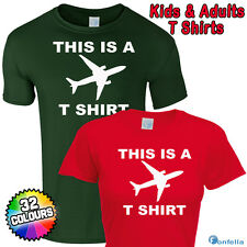 THIS IS A PLANE T SHIRT - funny slogan sleep tshirt joke gift present eat silly