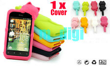 Cute 3D Cat Soft Silicon case skin for HTC Rhyme Bliss S510B G20 & dust plug