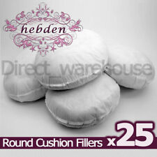 "Pack of 25 Round Hollowfibre Cushion Pads / Fillers / Inserts 16"", 18"", 20"", 22"""