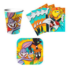 Looney Toons Birthday Party Supplies Kit, Plates Napkins & Cups Set for 8 or 16