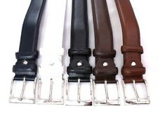 MENS NEW HIGH QUALITY BONDED LEATHER BELT DESIGNED WITH SILVER BUCKLE