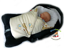 NEWBORN Swaddle Wrap Blanket for CAR SEAT duvet, Sleeping Bag  birthday GIFT