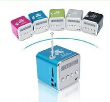 Portable Micro SD TF USB FM Music MP3 Player TD-V26 Mini Digital Speaker For PC