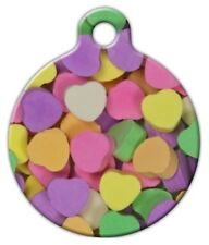CANDY HEARTS - Custom Personalized Pet ID Tag for Dog and Cat Collars