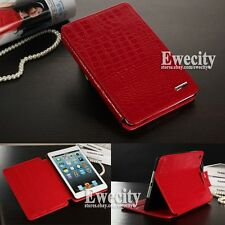New Cool Crocodile Luxury Genuine Leather Smart Case Cover Stand For iPad Mini 1