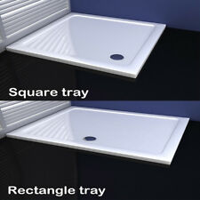 40mm slimline shower enclosure tray square rectangle stone tray