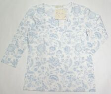 UNIQLO WOMEN CABBAGES & ROSES 3/4 SLEEVE T-SHIRT Light-Blue (075693)