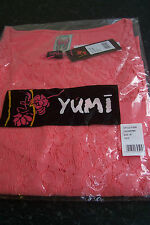YUMI - PRETTY TOP - PINK OR CREAM - FLORAL LACE ON FRONT WITH VEST TOP LINING