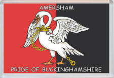 Buckinghamshire Pride County Flag Badge - Jumbo Fridge Magent - Gift/Present