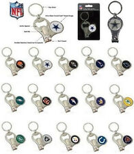CHOOSE TEAM Keychain Ring New NFL 3in1 Bottle Opener Clippers Folds Up Key Chain