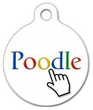 POODLE SEARCH - Custom Personalized Pet ID Tag for Dog and Cat Collars