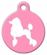 POODLE SILHOUETTE - Custom Personalized Pet ID Tag for Dog and Cat Collars