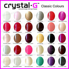 ALL NEW CRYSTAL-G PREMIUM UV LED COLOURS GEL NAIL POLISH
