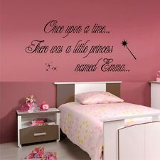 ONCE UPON A TIME princess personalised wall decals girls bedroom decal