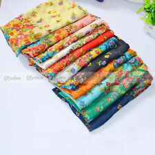 NEW Fashion 11 Colors Georgette Chiffon Womens Flowers Scarf Shawl Wrap Stole