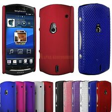 Hard Hybrid Mesh Net Perforated Back Case Cover For Sony Ericsson Xperia NEO