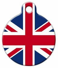 BRITISH FLAG - Custom Personalized Pet ID Tag for Dog and Cat Collars