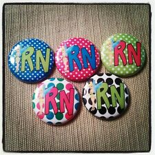 """5 Tinkerbell RN Nursing 1"""" Button Embellishments for bows and other crafts"""