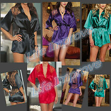 Sexy Lingerie Nightwear/underwear Ladies sleepwear Night Robe+G string Size*6-16