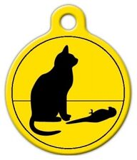 BAD CAT, POOR BIRD - Custom Personalized Pet ID Tag for Dog and Cat Collars