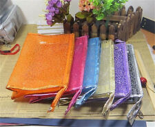 New Fashion travel storage pouch packet trumpet Make Cosmetic Bag Crystal Colors