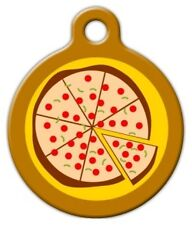 PIZZA - Custom Personalized Pet ID Tag for Dog and Cat Collars