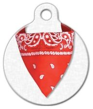 RED BANDANA - Custom Personalized Pet ID Tag for Dog and Cat Collars