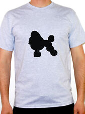 POODLE SILHOUETTE - Dog / Animal / Pet / Novelty Themed Mens T-Shirt