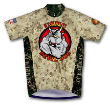 Primal Wear Devil Dog U.S. Marines Cycling Jersey Men's USMC Camo Military