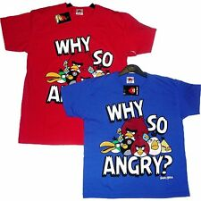 Brand New Boys Angry Birds T Tee Shirt Top Age 3 - 11 Years - Why So Angry?