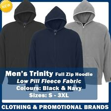 Mens Trinity Hoodie Lightweight Fleece Casual Jacket Zipper S M L XL New F10810