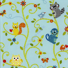 Happi Critters on Vines Blue- Free Spirit - PWDF147-BLUE (sold by the 1/2 yard)