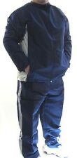 WARM UP SUIT Water Resistant High Quality Fabric Lined Jacket/Pants BLUE/GREY