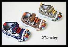 Baby Toddler Boy Kids Canvas Shoes Nursery Slippers Size UK 3 -7 Pumps New