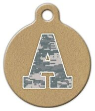 CAMO MONOGRAM A -Z - Custom Personalized Pet ID Tag for Dog and Cat Collars