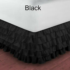 "1000 TC MULTI RUFFLE BED SKIRT 100% EGYPTIAN COTTON 15"" DROP IN ALL SIZE & COLOR"