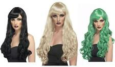LADIES FULL LONG CURLY FANCY DRESS WIG HAIR COSPLAY DESIRE COSTUME with FRINGE