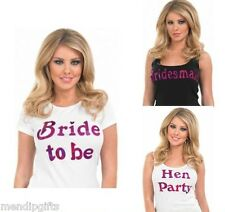 BRIDE TO BE & HEN PARTY IRON ON T SHIRT TRANSFERS HEN NIGHT ACCESSORIES FAVOURS
