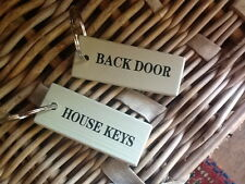 Key Ring or Tag for 'HOUSE KEYS' or 'BACK DOOR'- Self Assembly, Terrace & Garden