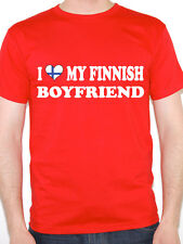I LOVE MY FINNISH BOYFRIEND - Finland / Europe / Nordic /Fun Themed Mens T-Shirt